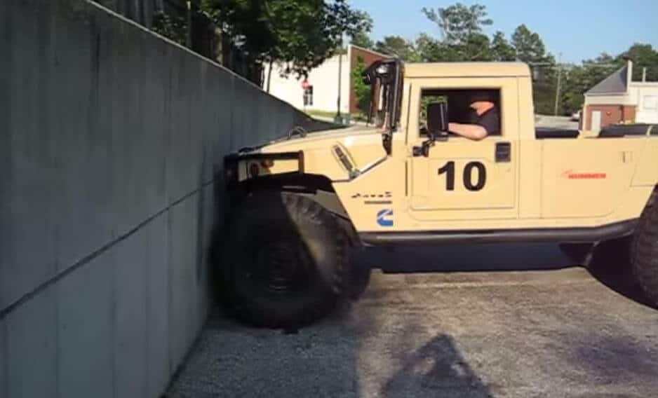 The Humvee vs. The 6 Foot Wall