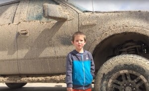 Kids Love Trucks muddy