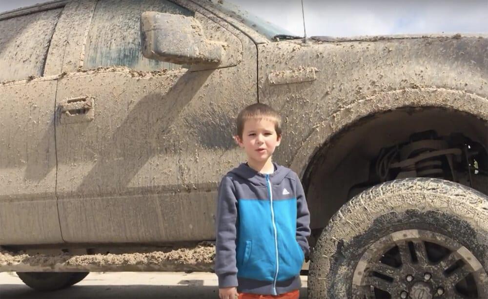 Kids Love Trucks muddy