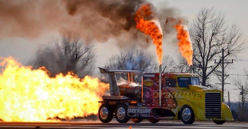 Turbo mega truck flames