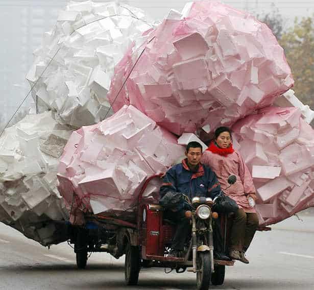 chinese overloaded bike