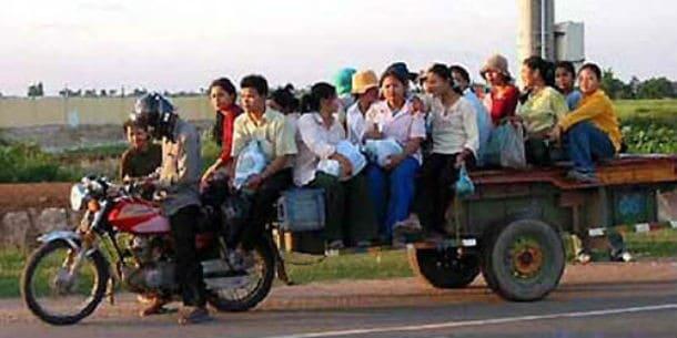 crowded bike