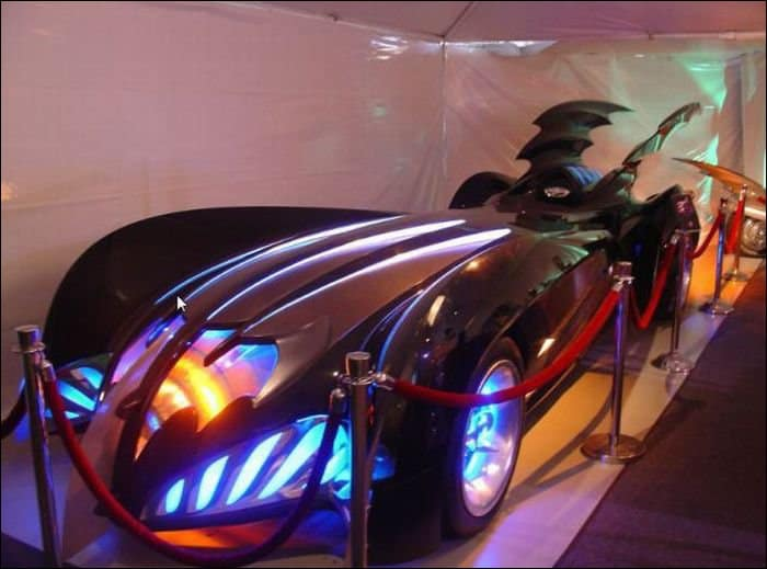 Batman and Robin batmobiles