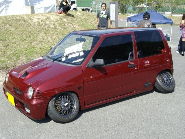Hatchback red lowered mod