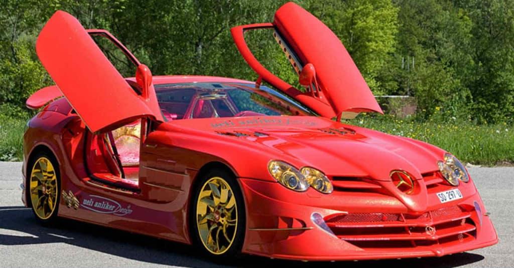 Mercedes red car mods
