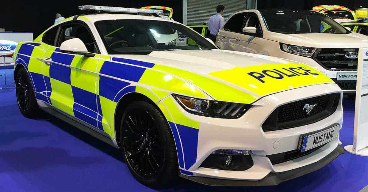 UK Police mustang fastest police car