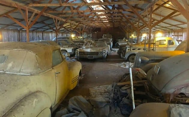 Cadillac Convertible barn find