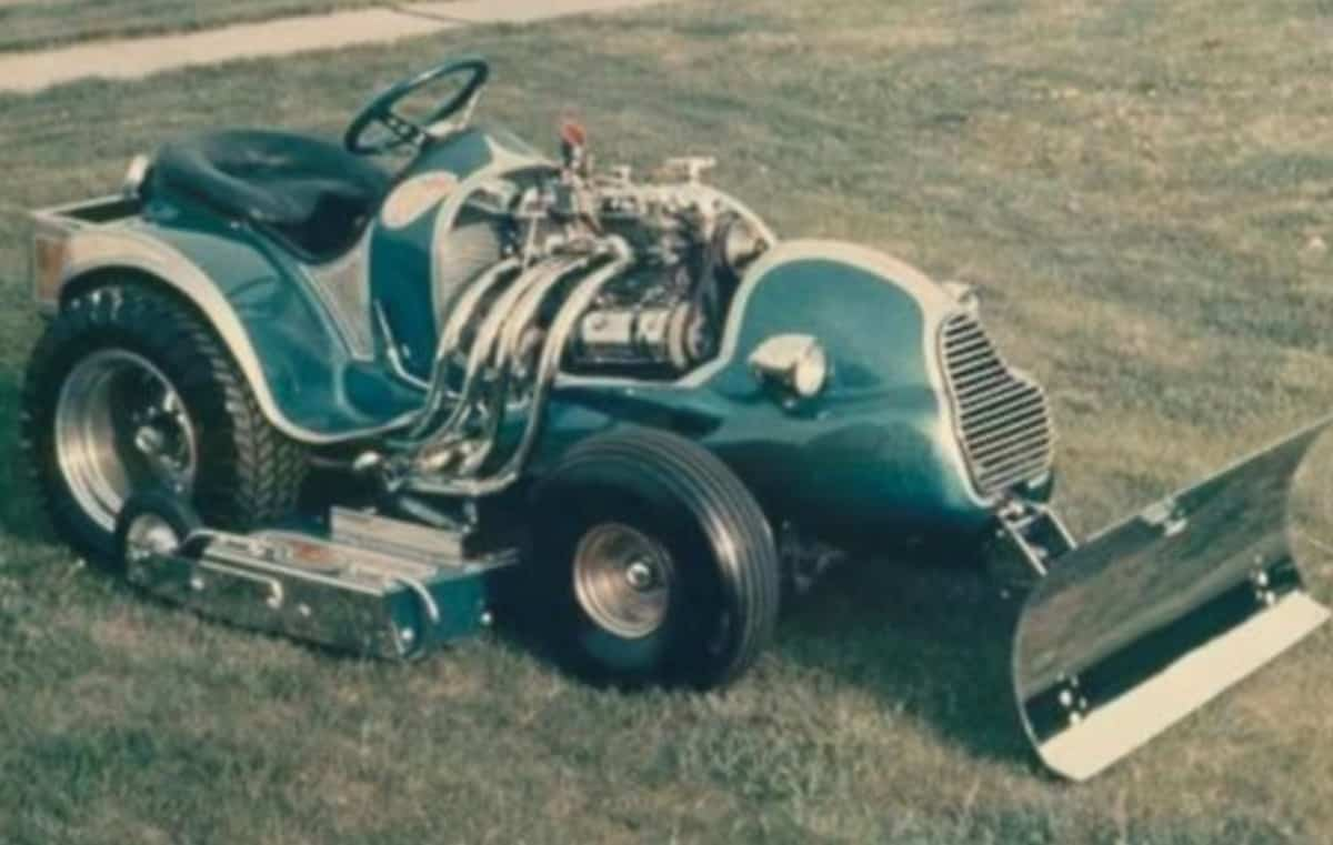 strange lawnmower
