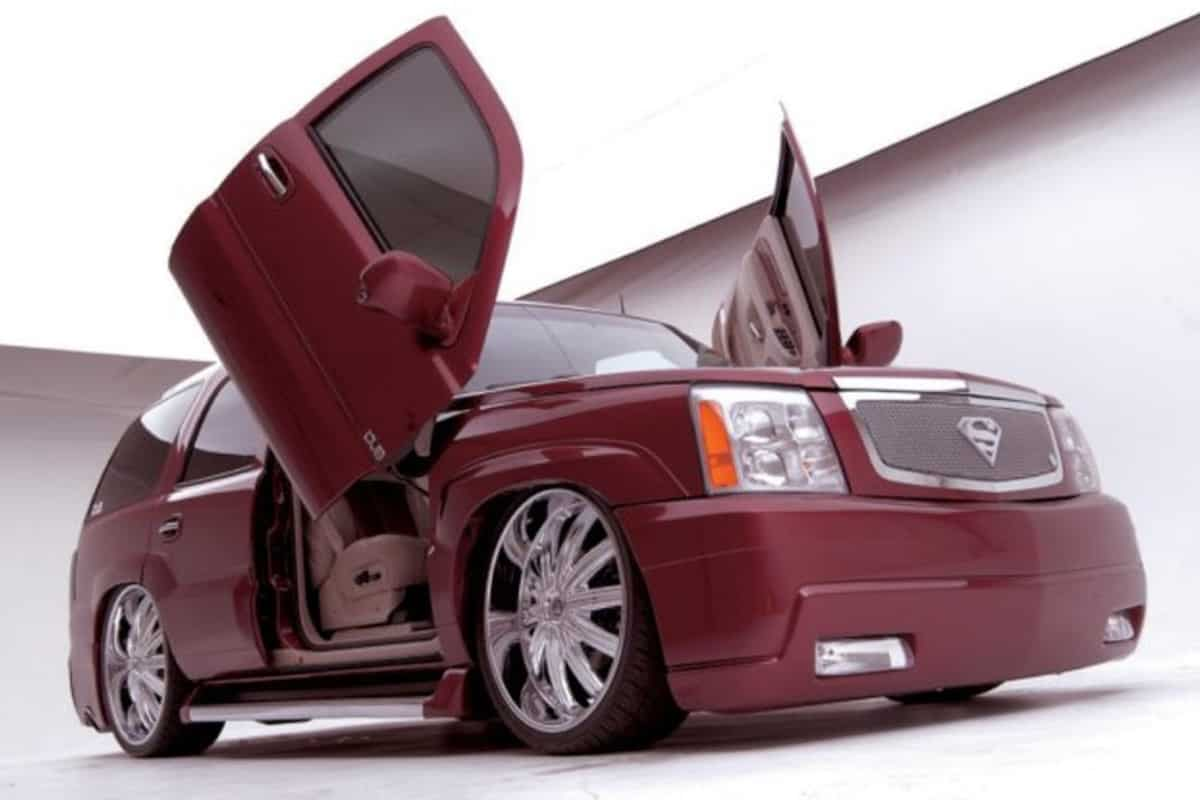 CADILLAC ESCALADE WITH MODIFIED DOORS