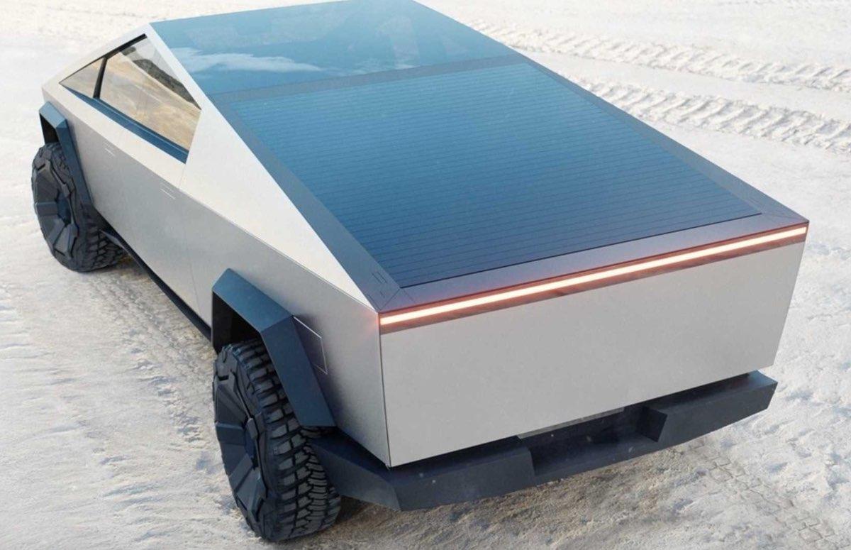 Tesla Cybertruck roll-down bed