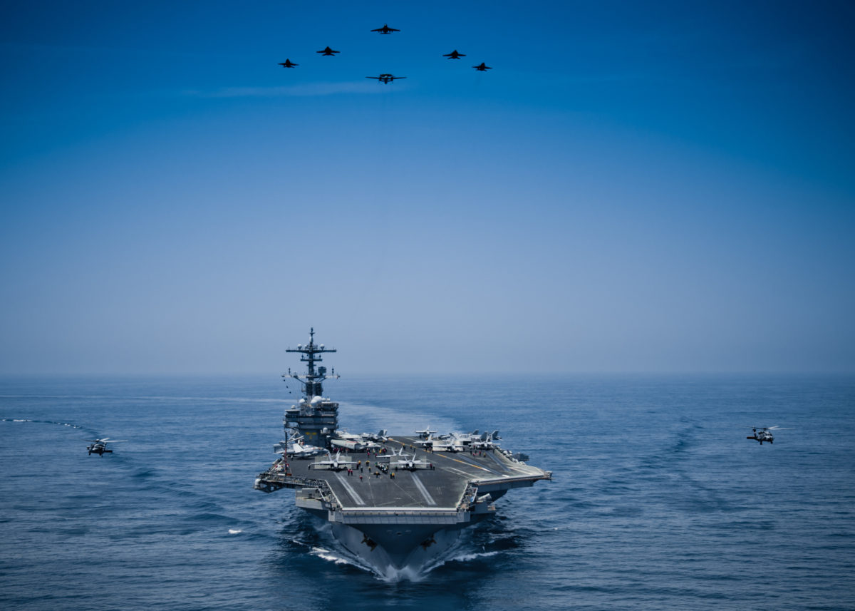 USS George H.W. Bush is underway.