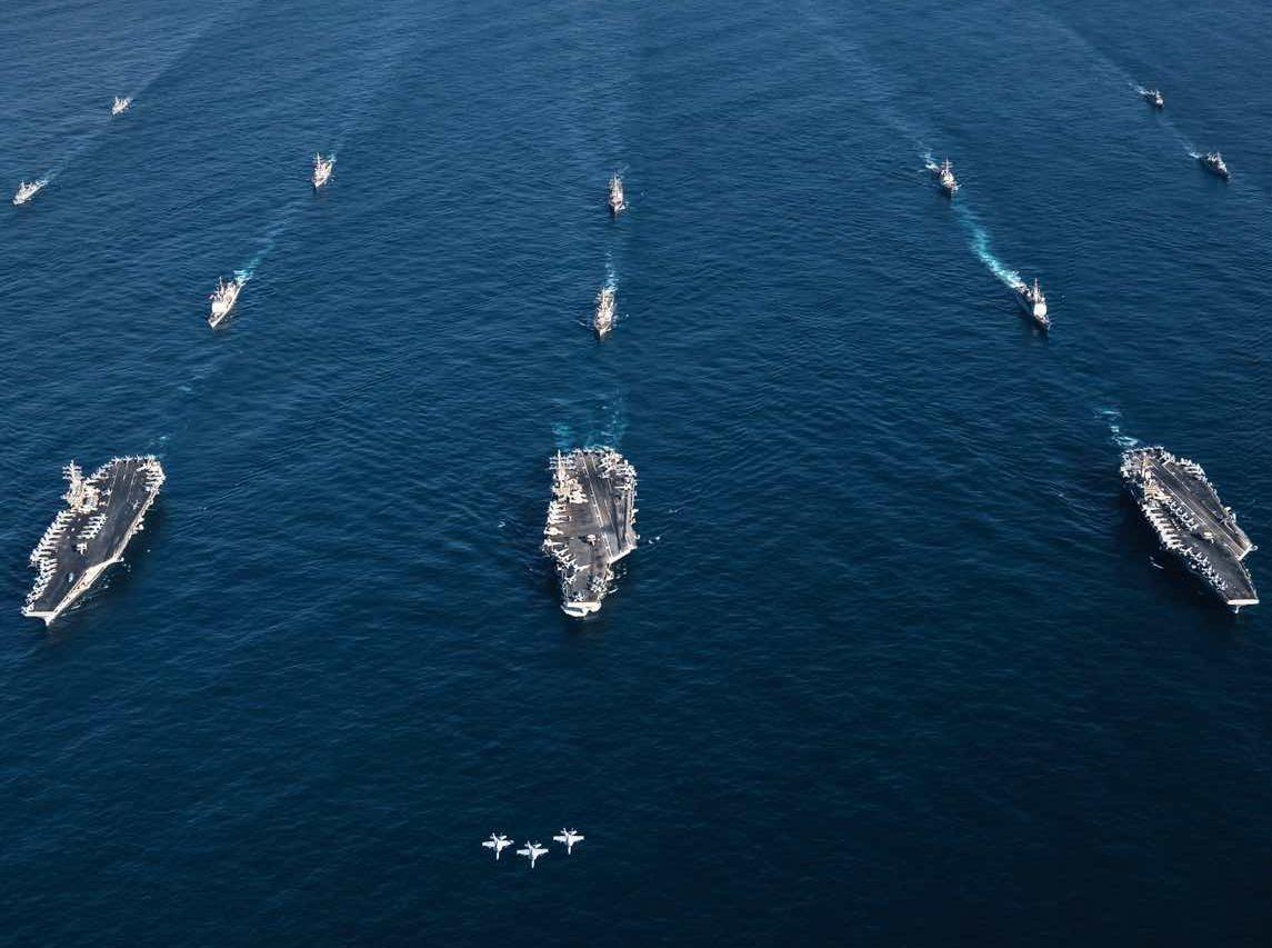 USS Roosevelt, Nimitz, Reagan