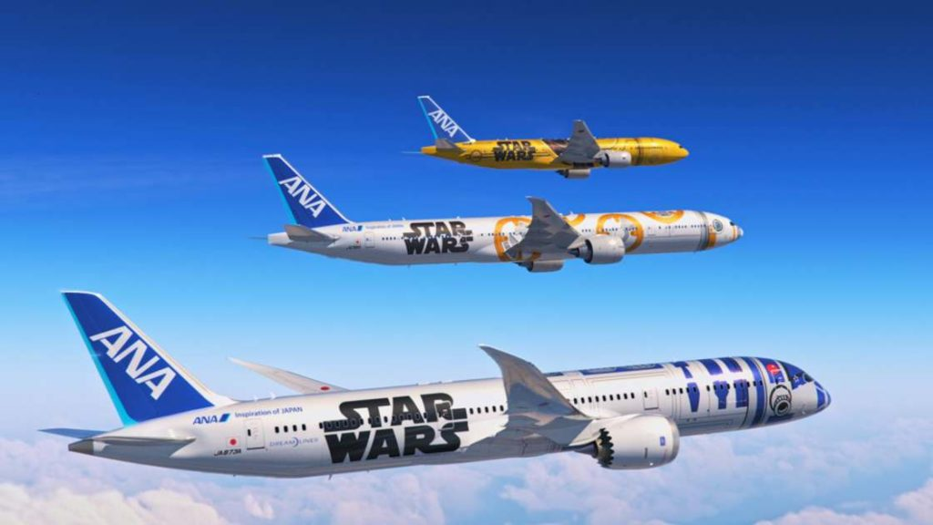 Star Wars custom painted aircraft