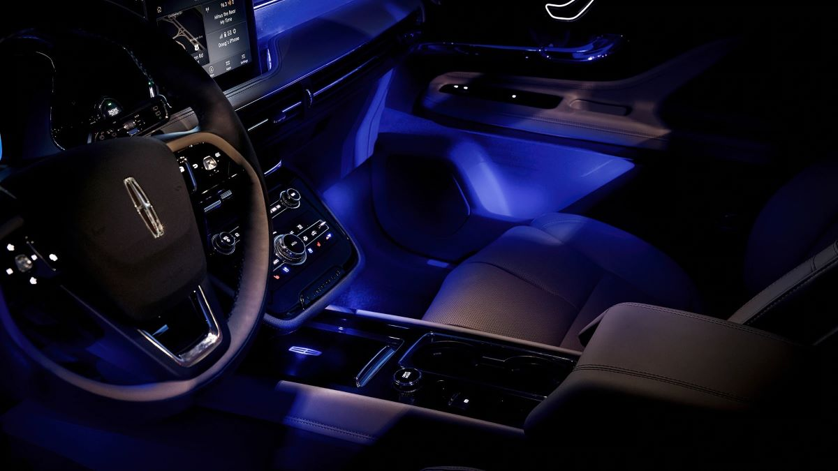 Lighting changes the feel of the car's interior