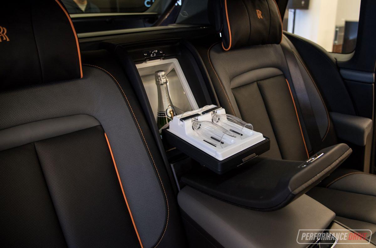 Built-in champagne chiller in the Rolls-Royce Phantom