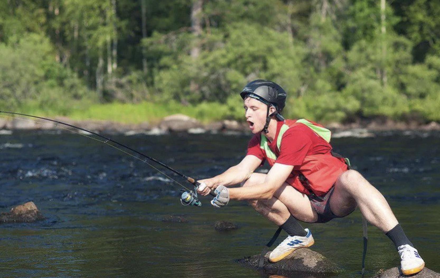 funny fishing photo
