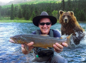 bear photobomb